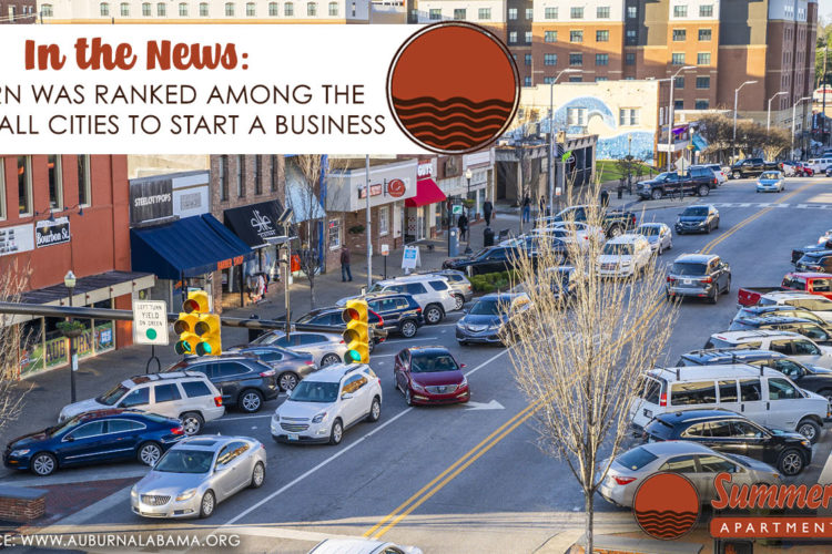 In the News: Auburn Was Ranked Among the Best Small Cities to Start a Business