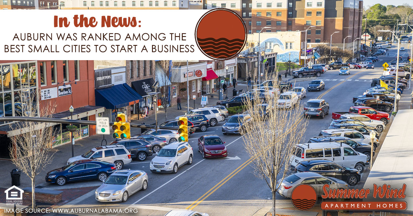 Auburn Was Ranked Among the Best Small Cities to Start a Business