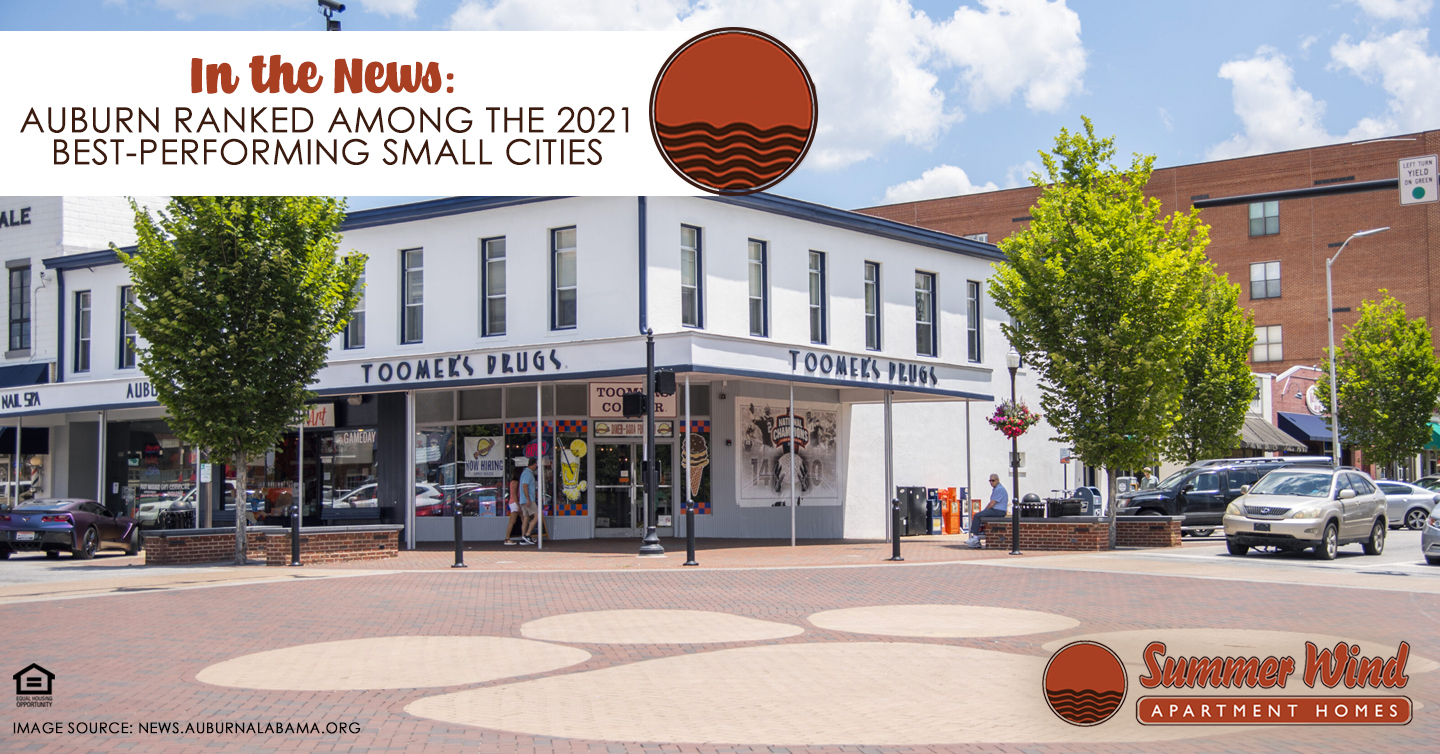 Auburn Ranked Among the 2021 Best-Performing Small Cities